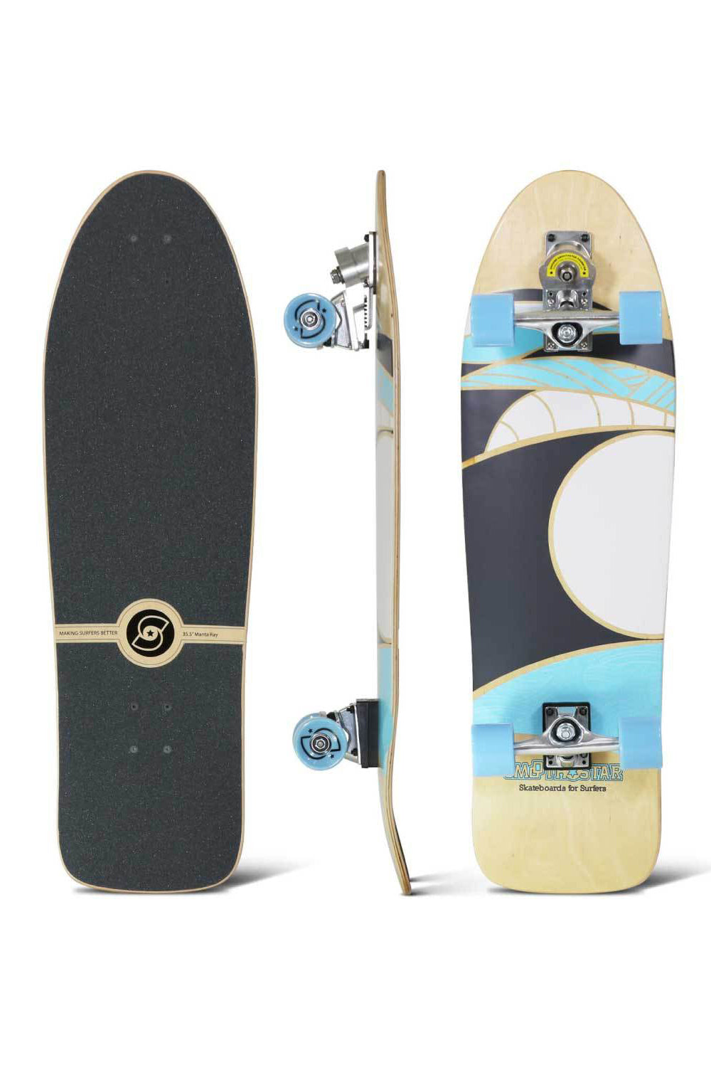 "Smoothstar 35.5"" Manta Ray Skateboard"