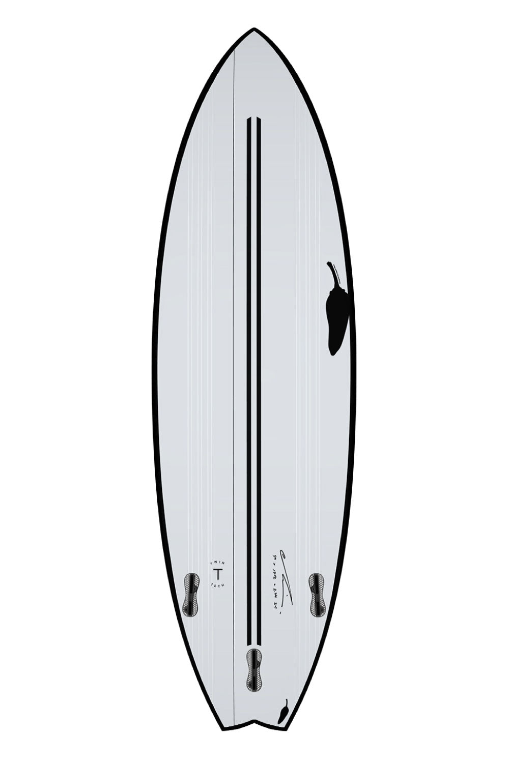 Chilli BV2 'Black Vulture 2' Twin Tech Surfboard