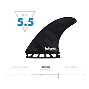 Futures Fins Jordy Smith Large HC Tri Fin Set - Black/White Camo
