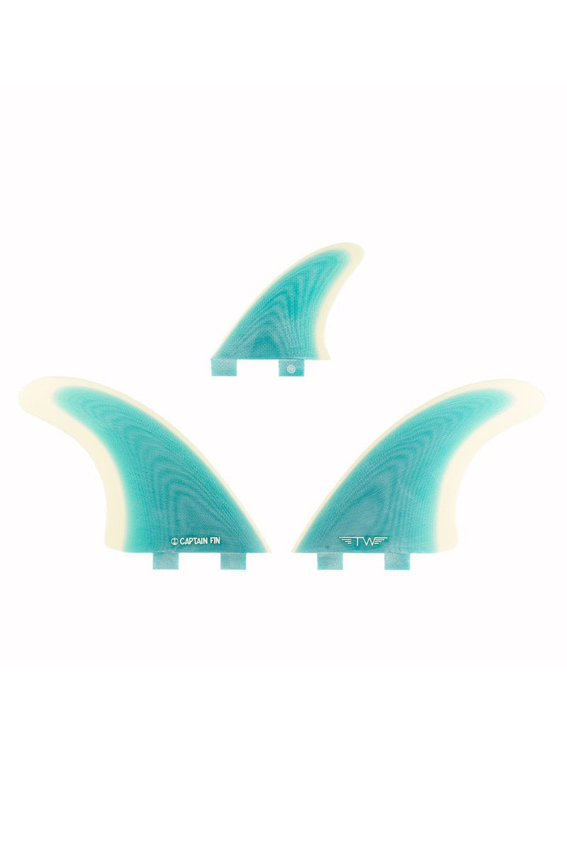 Captain Fin Co Tyler Warren Fibreglass Especial Twin Fin Set