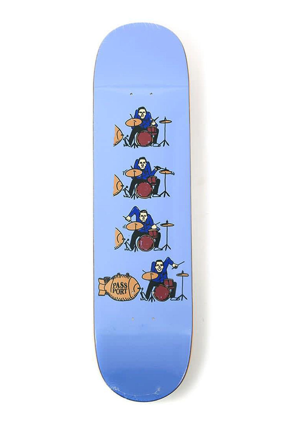 "Passport ""Drums"" What You Thought Series Skateboard Deck - 8.38"""