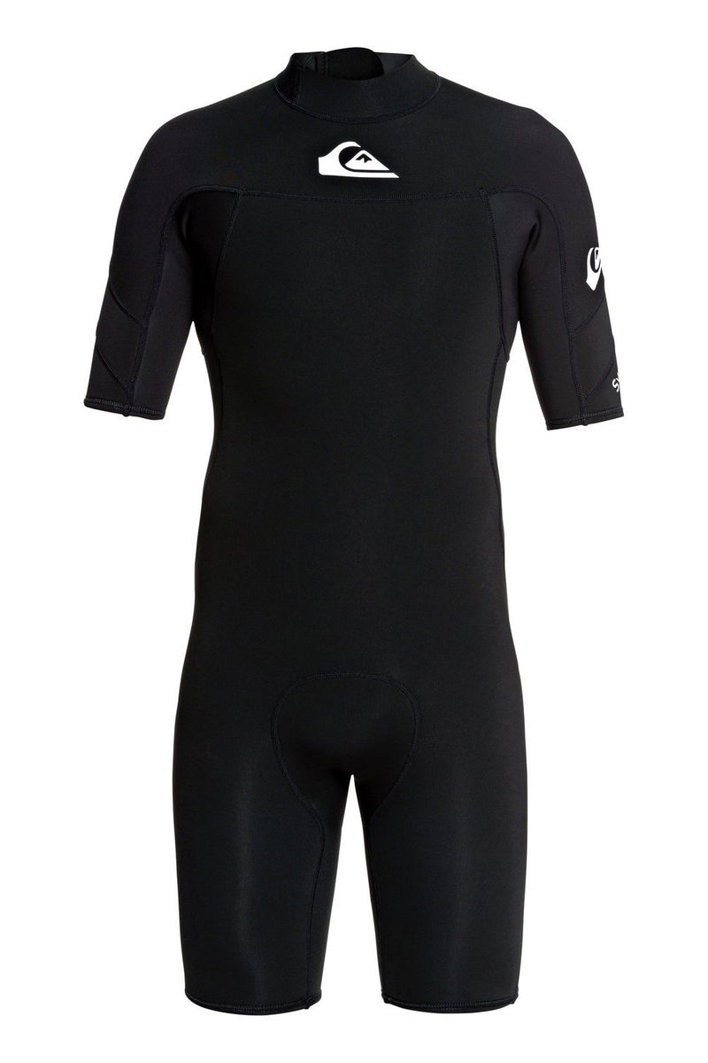 Quiksilver Mens Syncro 2/2mm SS Chest Zip Flatlock Springsuit