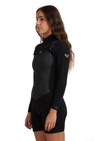 Roxy Women's Performance 2/2mm GBS Chest Zip Springsuit Wetsuit
