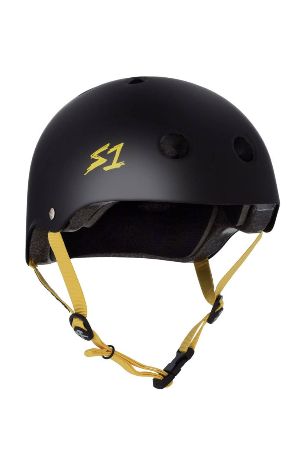 S One Lifer Helmet - Black Matte / Yellow Straps