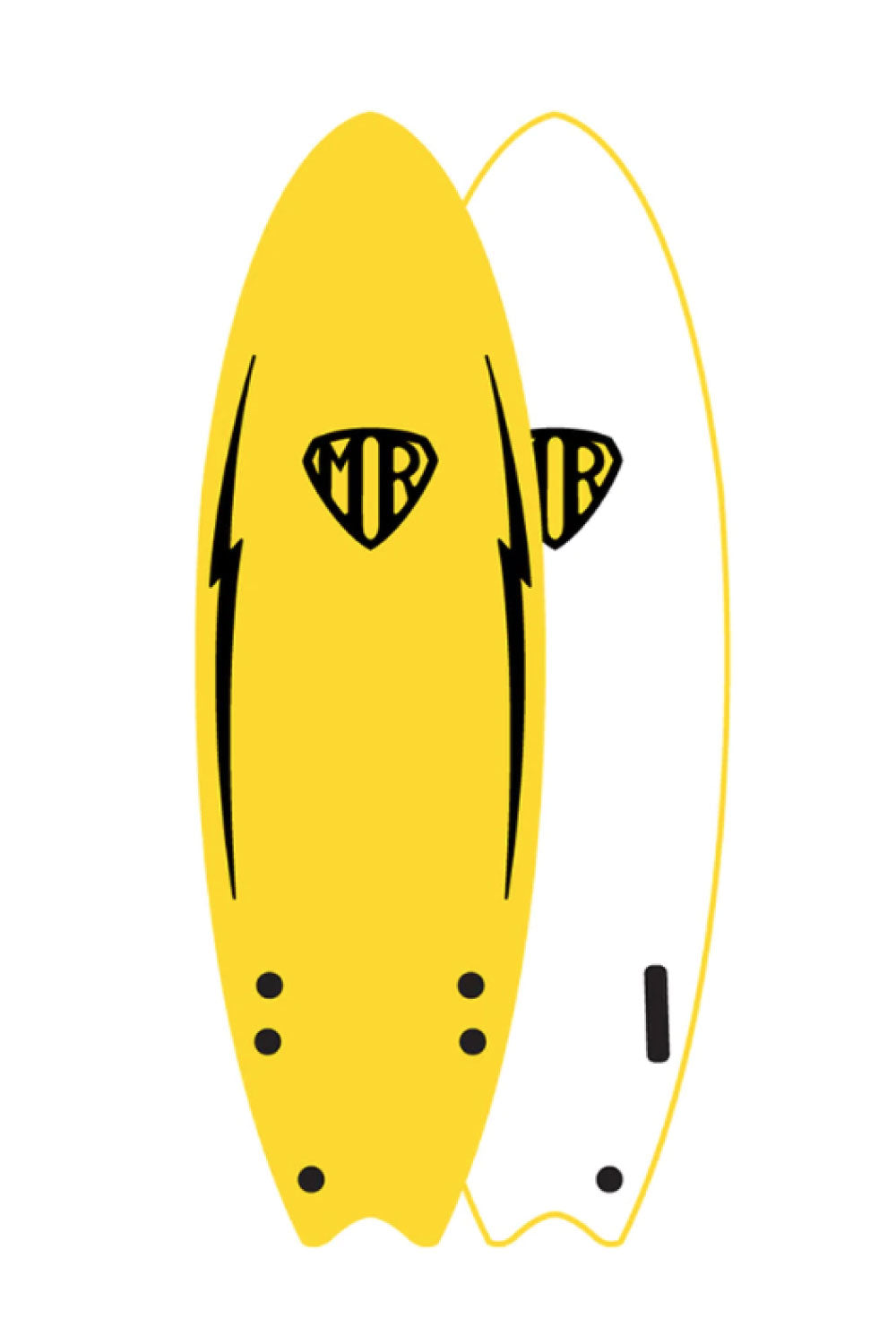Mark Richards MR 6ft Ezi Rider Twin Fin Softboard