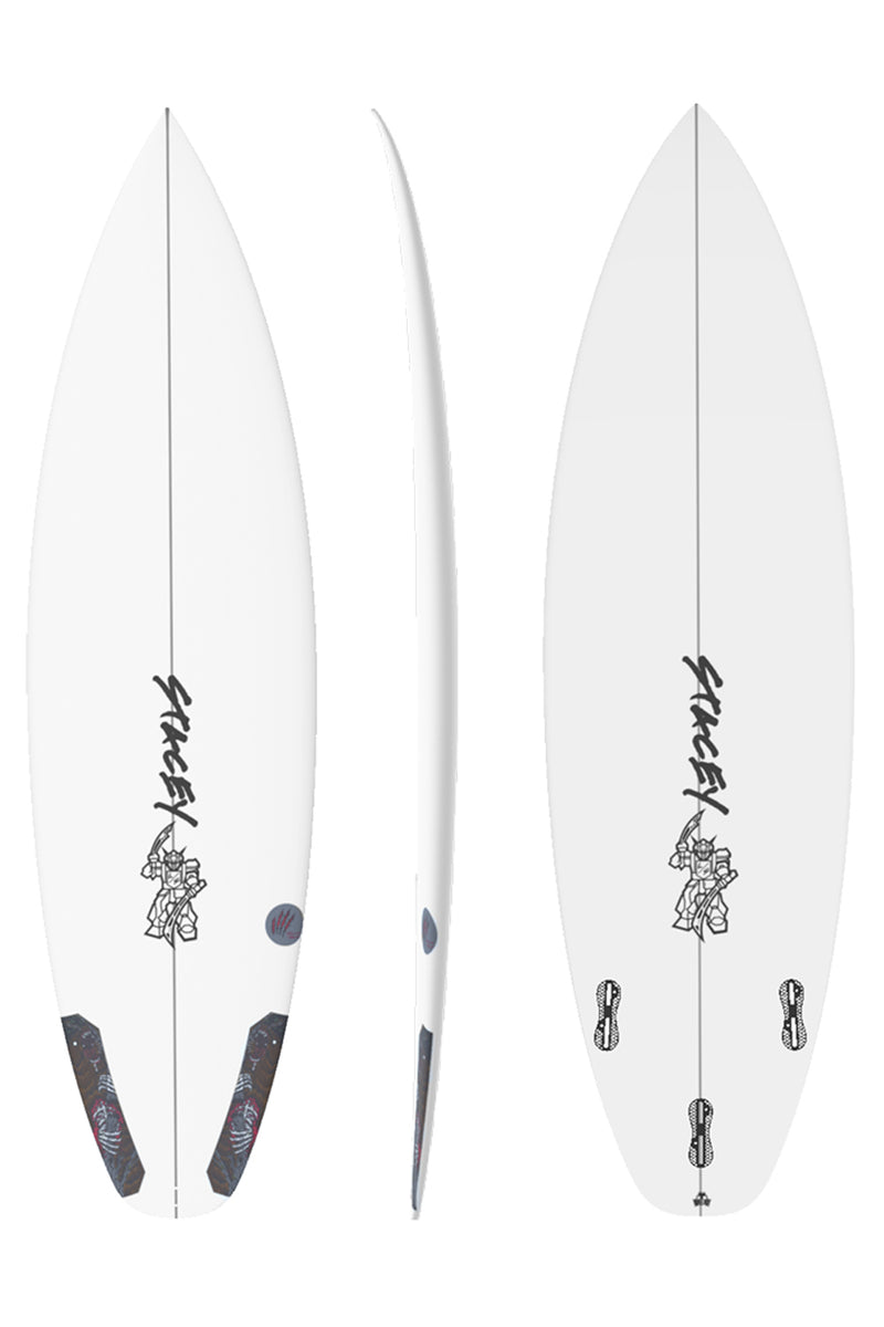 Stacey Black Bear Squash Tail Surfboard
