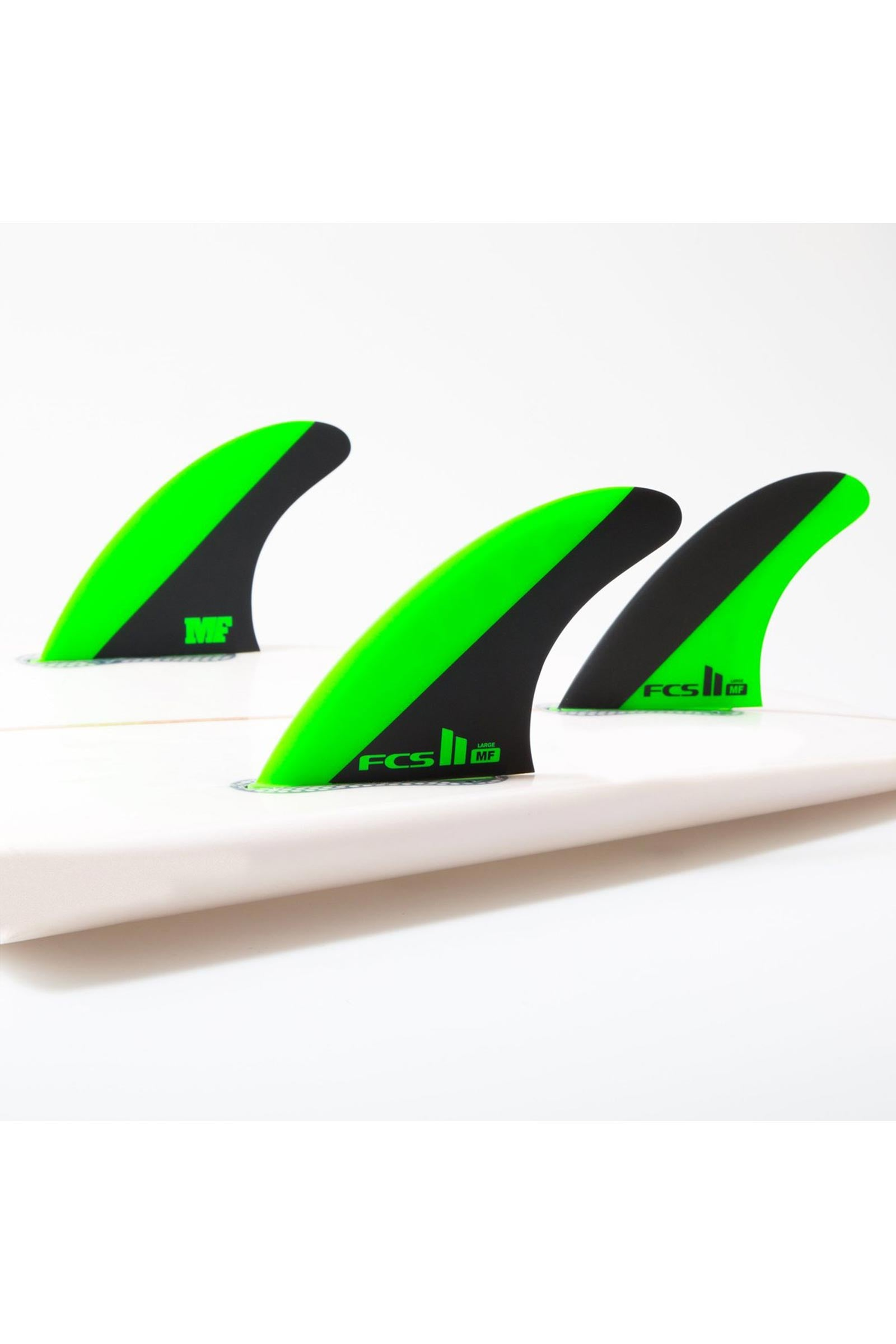 FCS 2 MF LARGE PC TRI SET GREEN/BLACK LARGE
