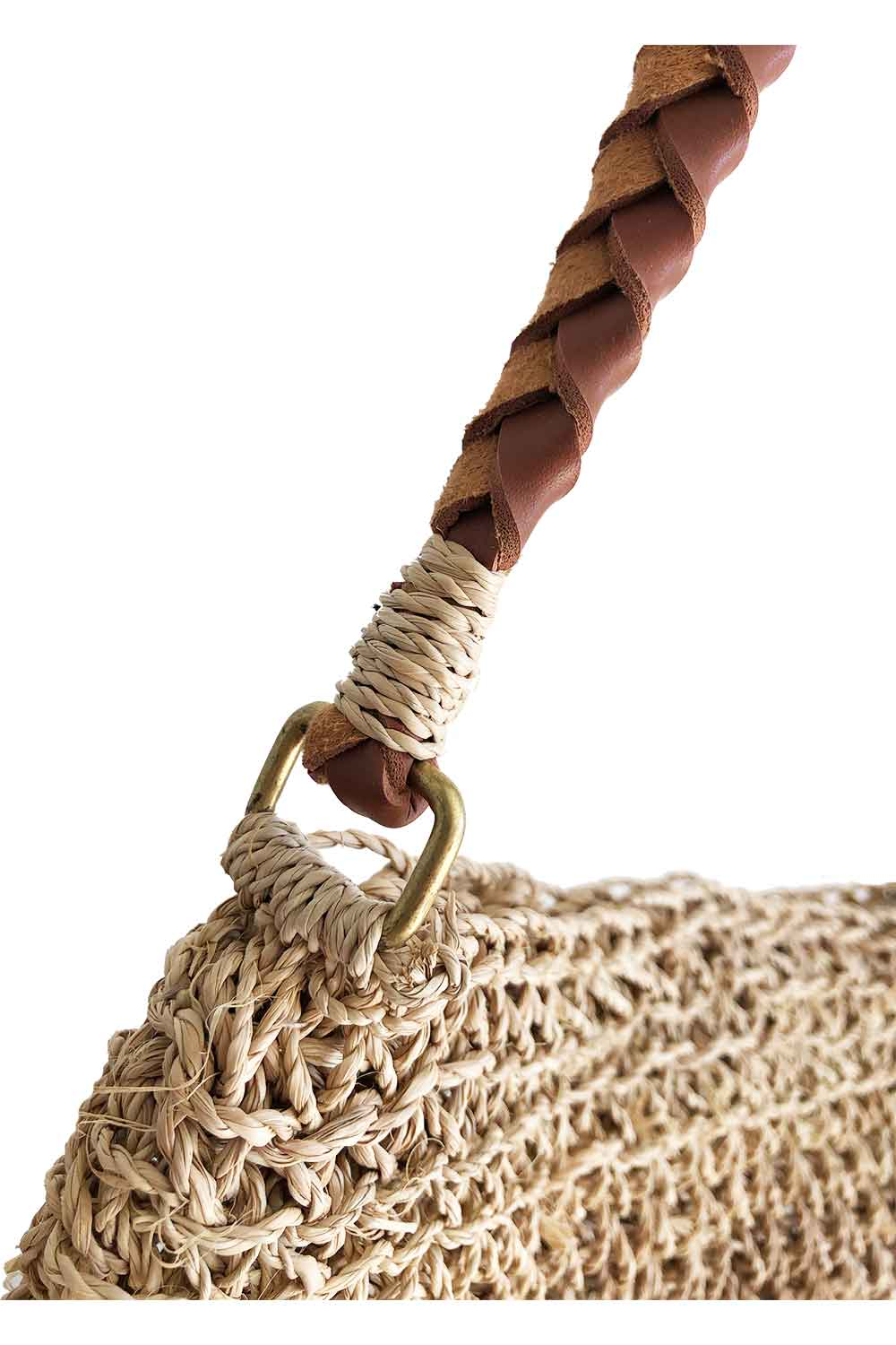 Sanbasic Woven Plaited Hand Bag