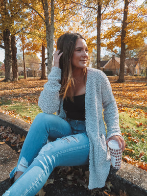 Head In The Clouds Heather Gray Cardigan