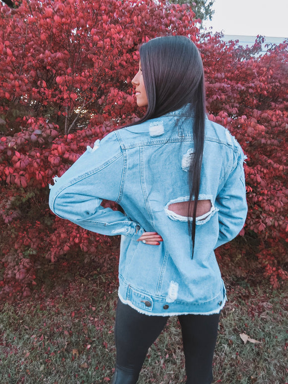 Blue Jean Dreams Oversized Denim Jacket