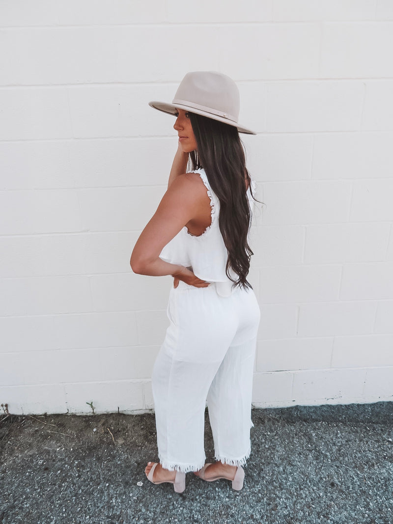 All Natural Two Piece Pants Set