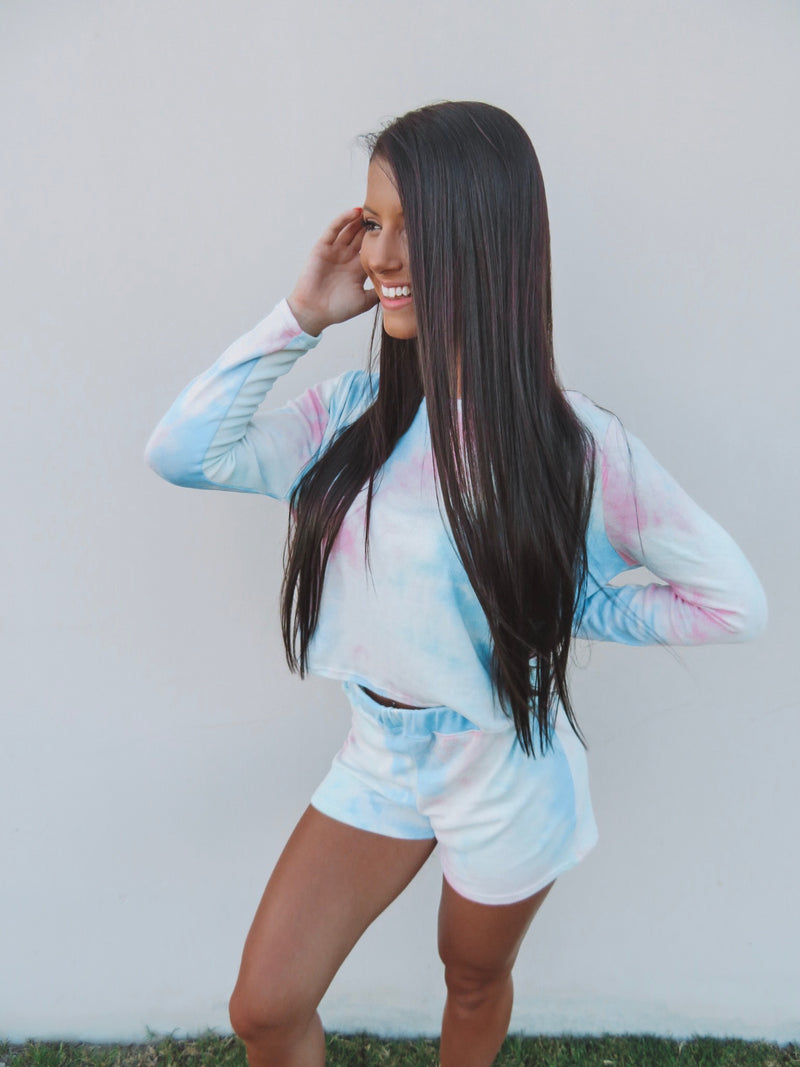 Cotton Candy Dream Tie Dye Set - Long Sleeve