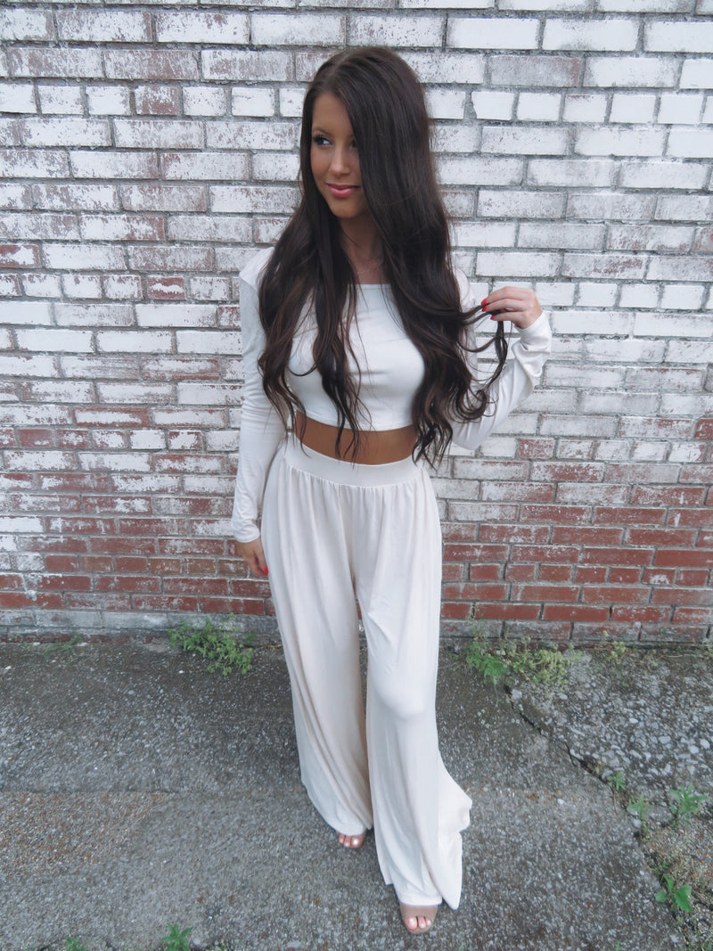 Show Stopper Pants Set - Sand