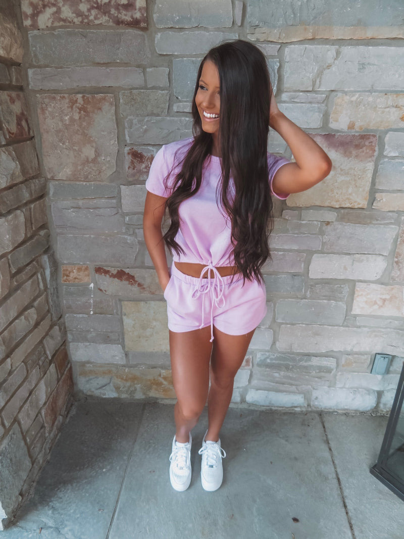 Cozy But Make It Cute Pink Two-Piece Set