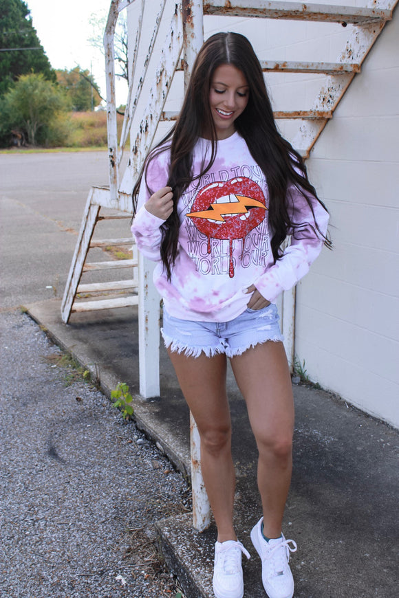 Be Cool Tie Dye Sweatshirt - Mauve