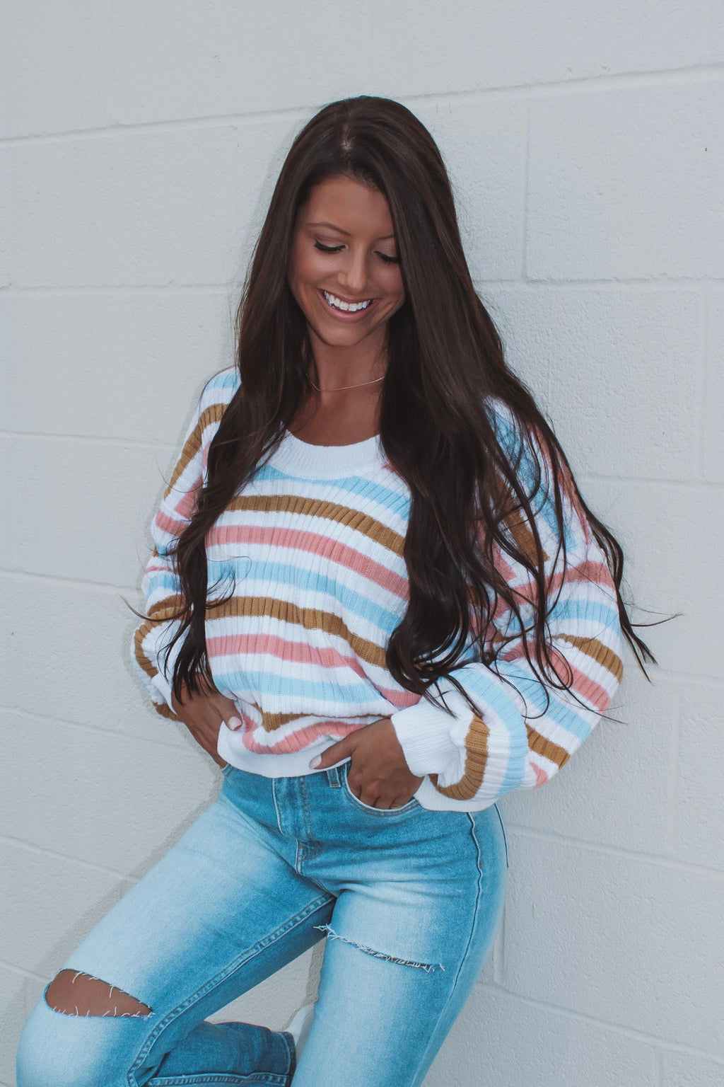 Rainbow Sherbert Striped Sweater