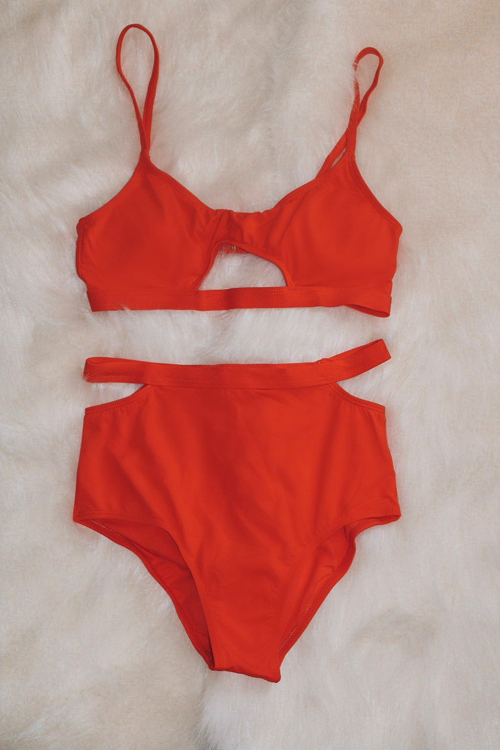 Cut The Waves Bikini - Red