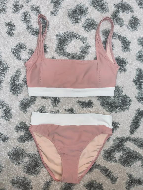 Make Me Blush Pink High Waisted Bikini