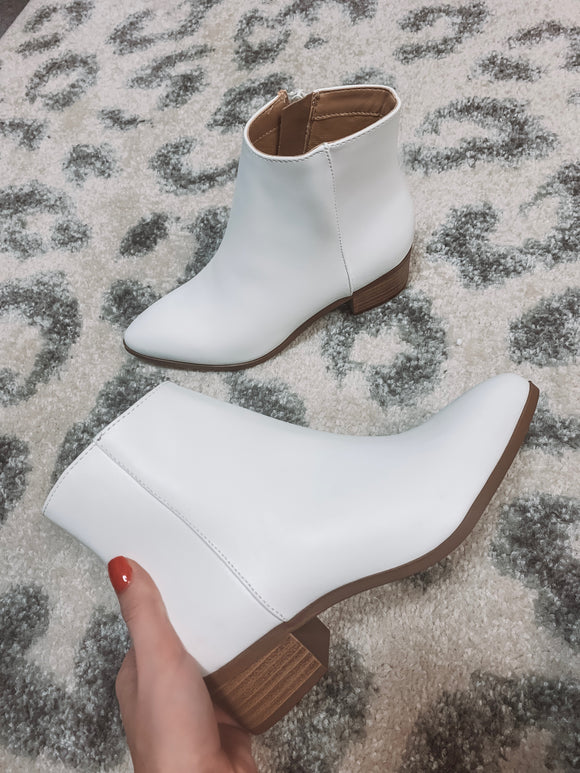 You're My Sole Mate White Booties