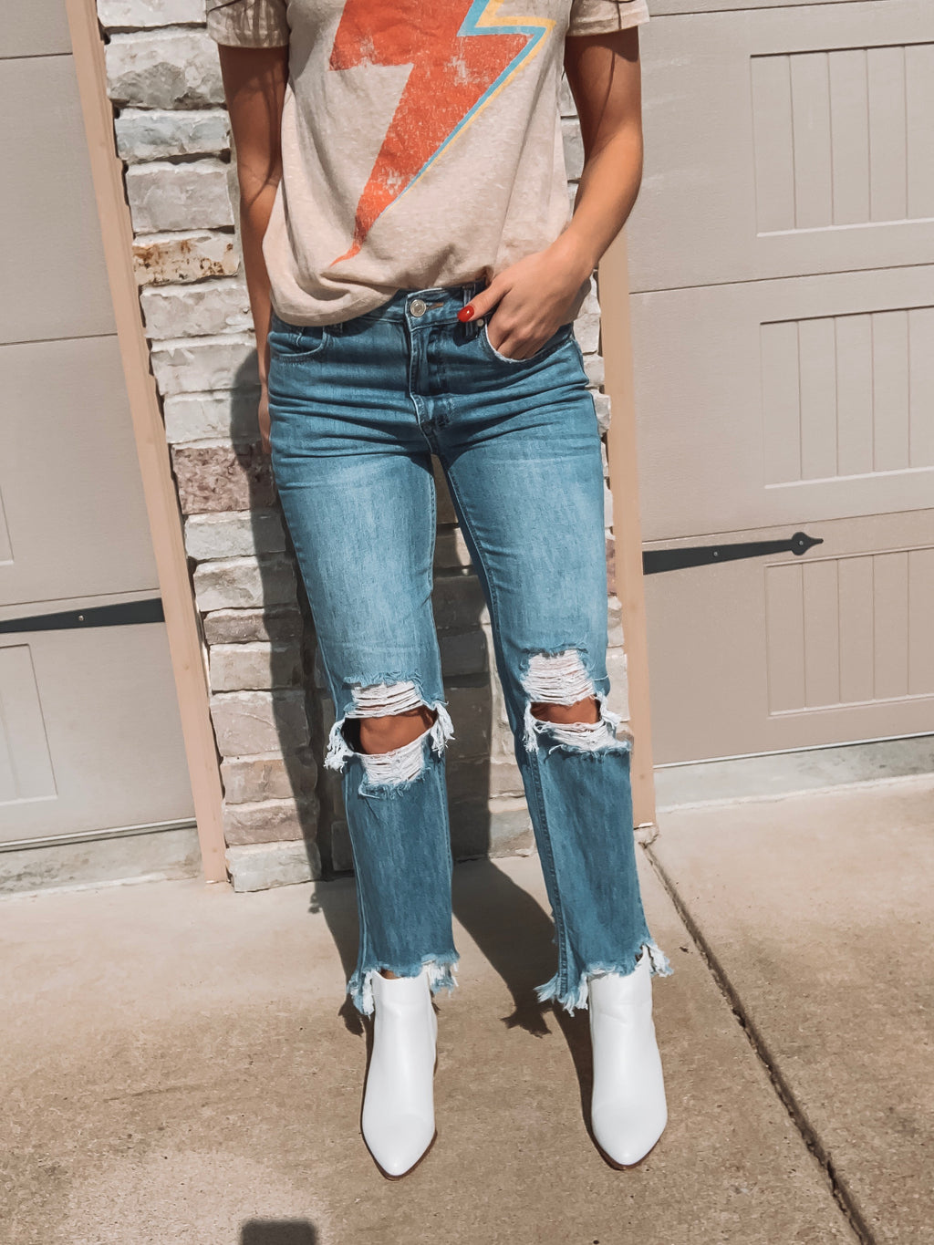 Distressed To Impress Cropped Skinnies