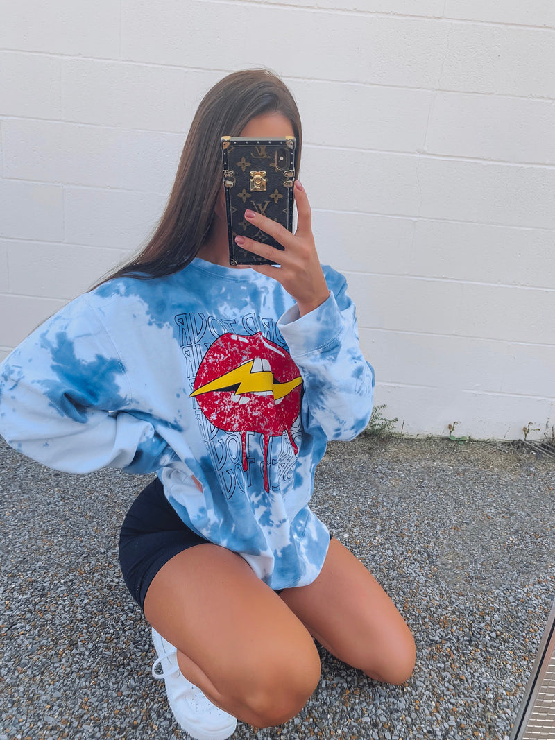Be Cool Tie Dye Sweatshirt - Blue