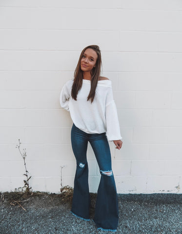 Sky Blue Denim Bell Bottoms