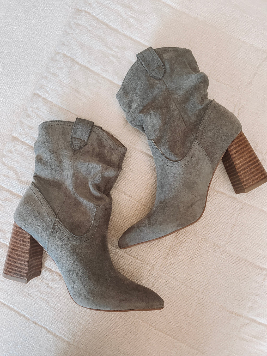 The Paige Booties - Slate Gray