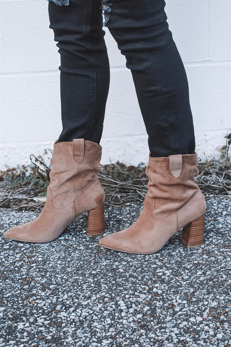 The Paige Booties - Tan