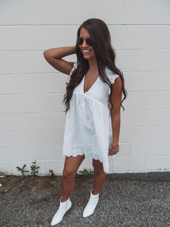 For The Love Of Lace White Eyelet Romper