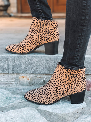 Into The Wild Leopard Print Booties