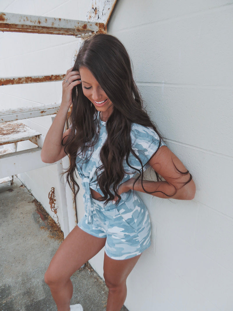 Can't See Me Camo Two Piece Set