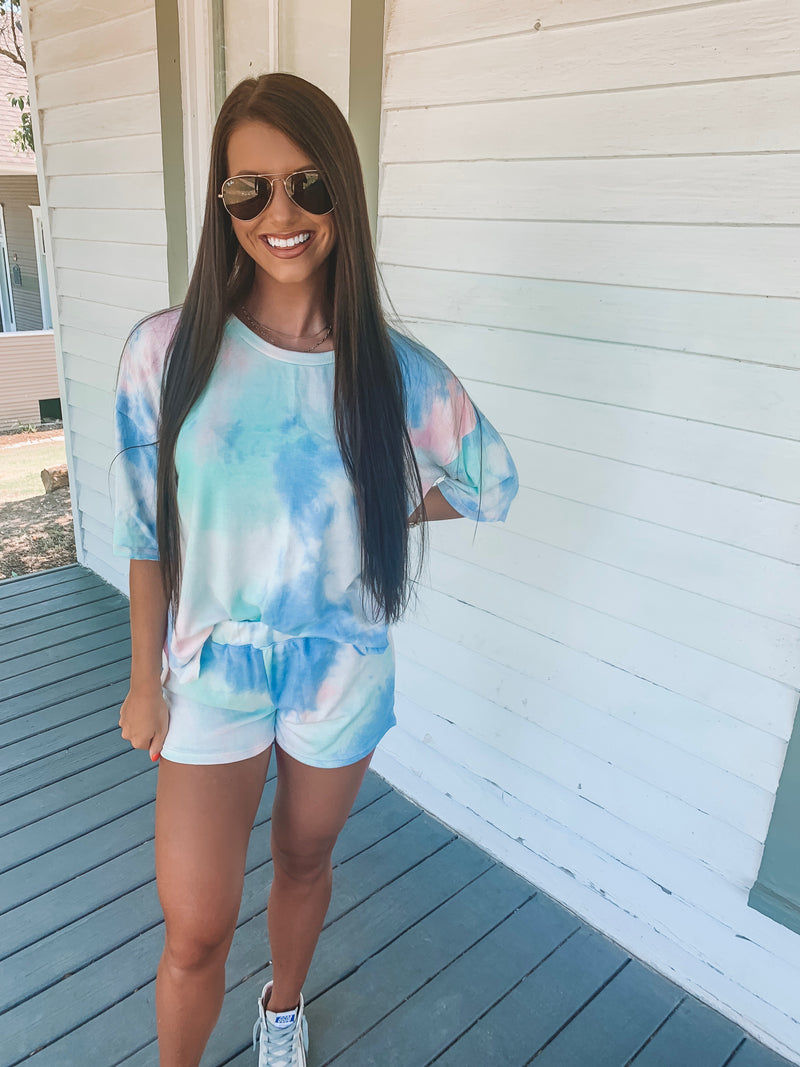 Cotton Candy Dreams Tie Dye Set - Short Sleeve