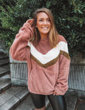 Color Block Teddy Fleece Pullover
