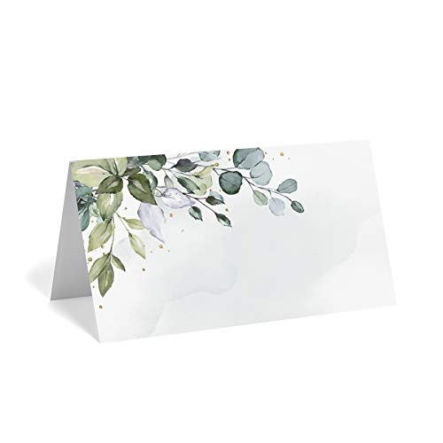 Greenery Watercolor Foliage Place Cards (Pack of 50)