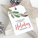 Greenery Foliage Holiday Christmas Gift Tags (Pack of 50)