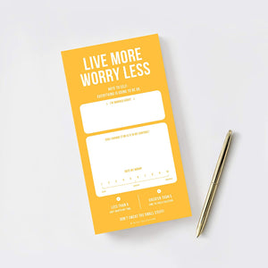 Uncommon Notepads, Memo Pads and To Do Lists, Live More Worry Less Note Pad for Every Moment of the Day