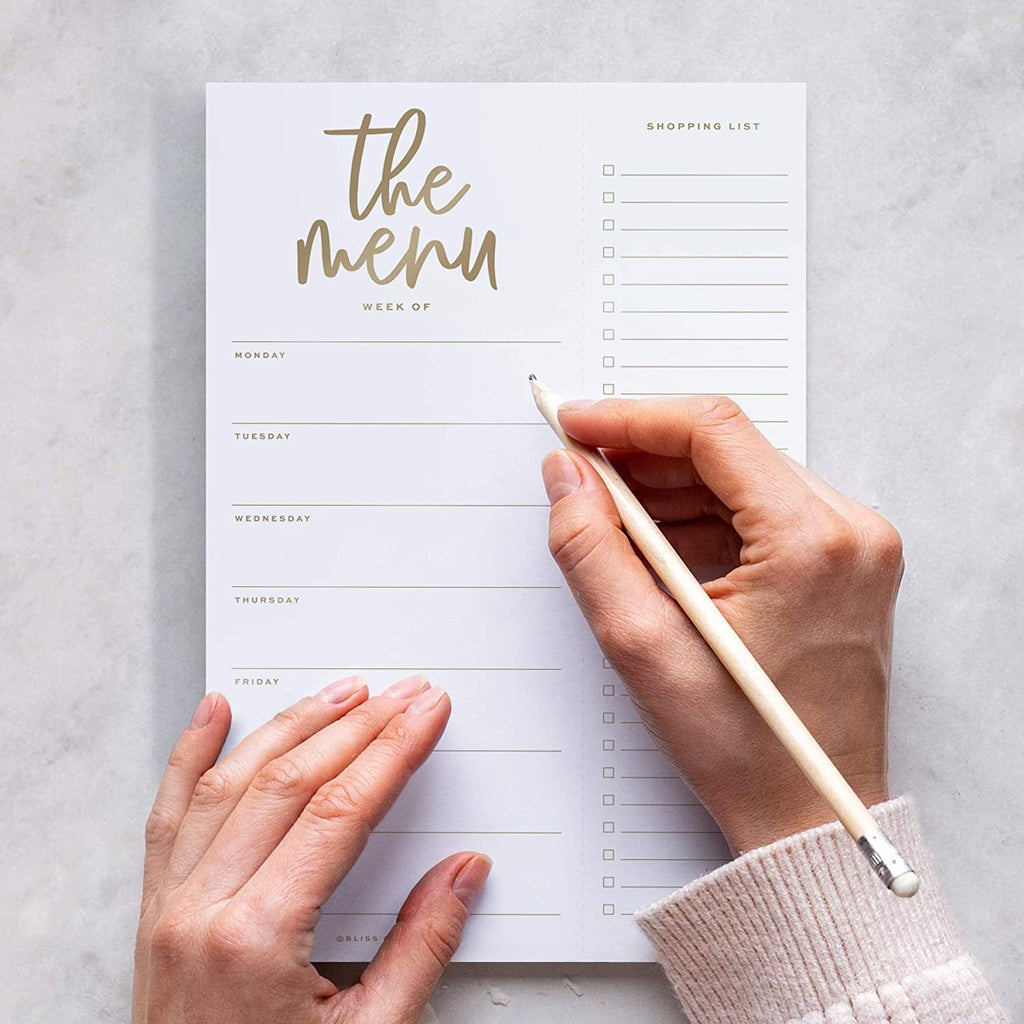 Magnetic Meal Planner Notepad, 50 Sheets - Luxe to Do List and Organizer for Groceries, Meal Prep, Notes and Tasks to Keep You Organized - Easy Tear-Off Sheets Writing Pad