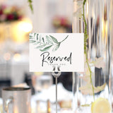 Greenery Reserved Signs for Wedding, 4x6 Reserved Table Cards, Table Setting Cards (10 Pack)