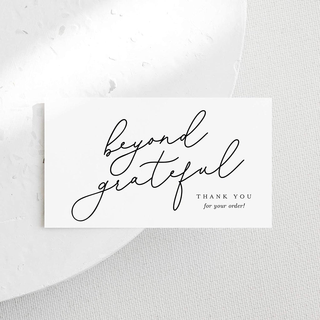 Thank You For Supporting My Small Business Cards, Premium design, 2 x 3.5 business card size, perfect for small business owners, beyond grateful design, 50 pack