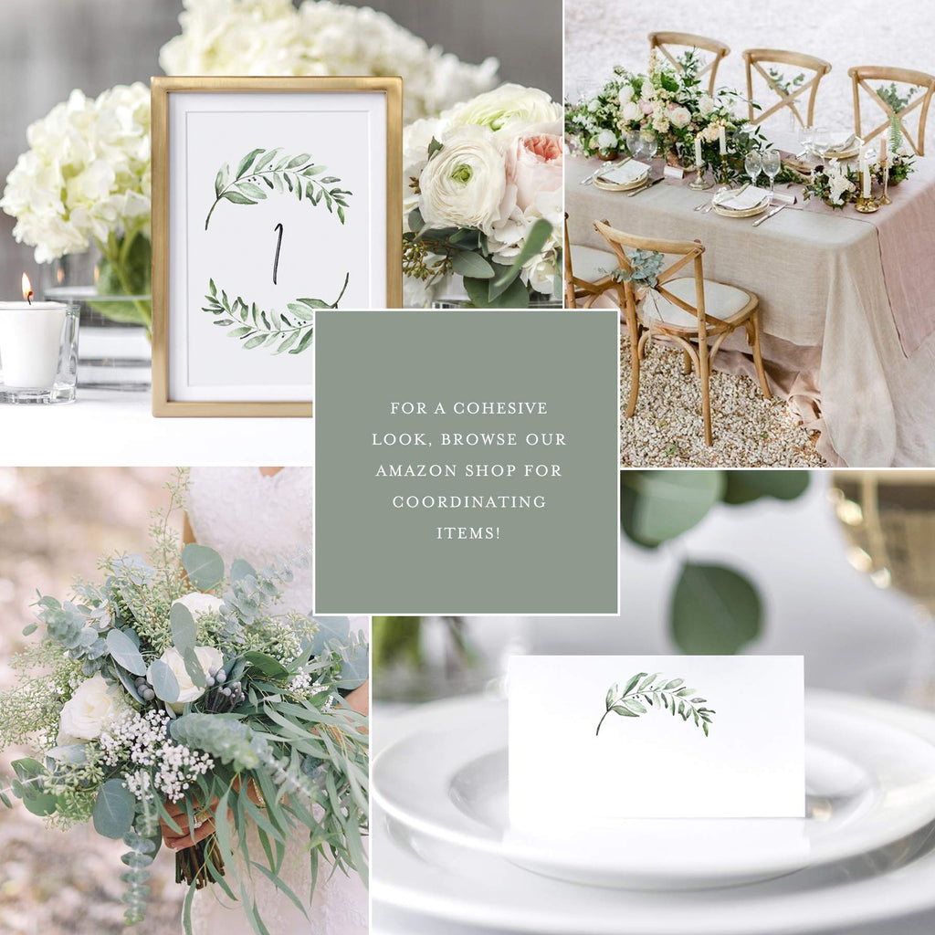 1-25 Greenery Table Numbers for any occasion