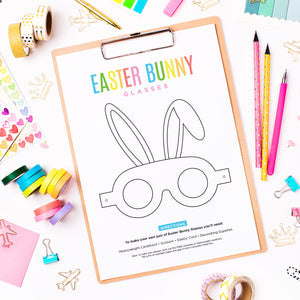 Easter Bunny Glasses Free Printable