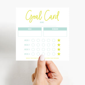 Goal Setting Card Free Printable