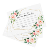 50 Geometric Floral Advice and Wishes Cards for All Occasions