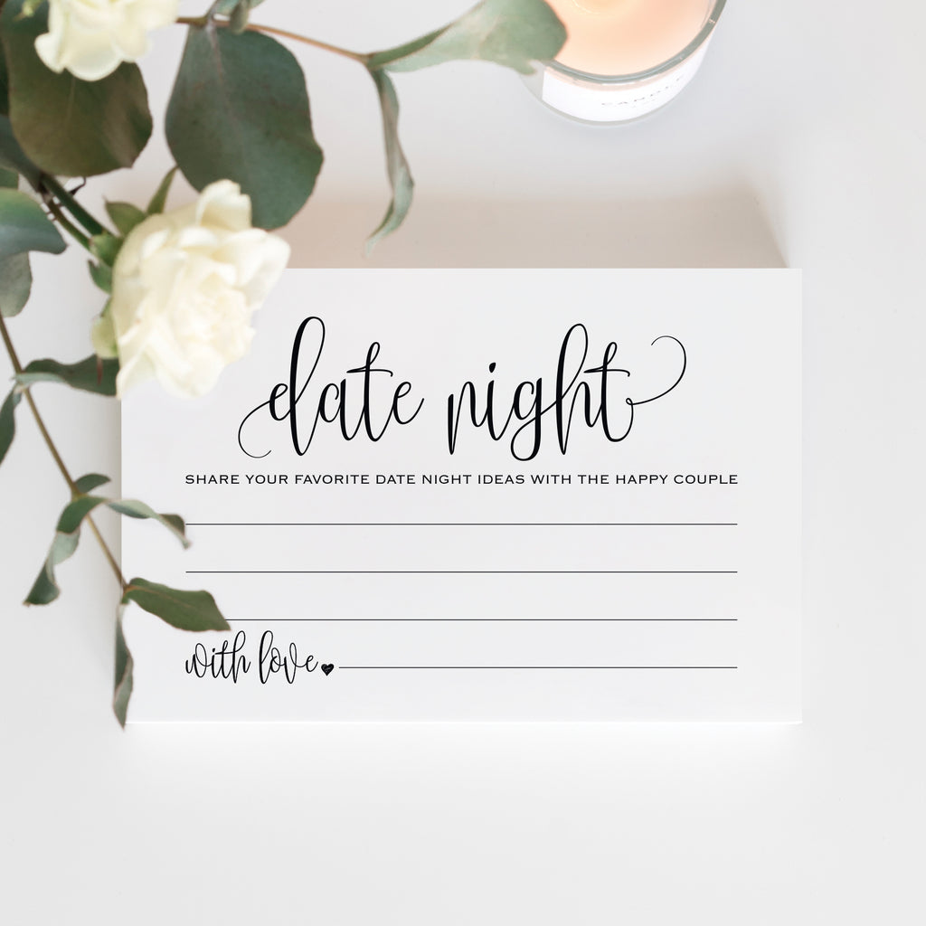 Bliss Paper Boutique Date Night Ideas Cards Married Couples Bride and Groom /—/Pack of 50 4x6 Cards from for Bridal Shower