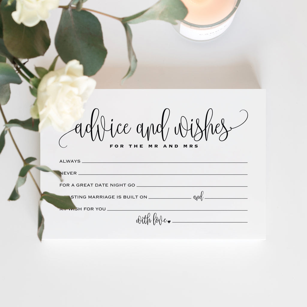 50 Mad Libs advice and wishes cards for the new Mr and Mrs