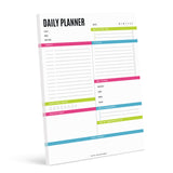 Daily Planner Tear Off Pad, 50 Undated Sheets, Desk Notepad, Daily Calendar, Task Planner, To Do List, Productivity Schedule Organizer, Meal Planner, 8.5x11