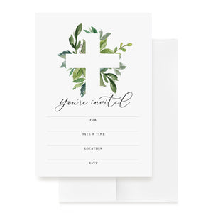 25 Religious Invitations with envelopes