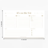 Ultimate To-Do List, Daily Pad, Shopping List, Tasks, Priorities, Gold Notepad Design