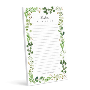 To Do List Notepad, Greenery Notes Tear-Off Pad, Memo Pad for Shopping Lists, Reminders, Appointments & More, 4.5 x 7.5 inches, 50 Sheets