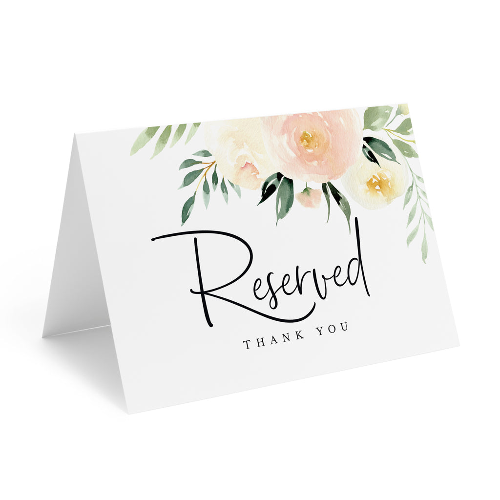 exclusive range classic styles the best Blush Floral Reserved Signs for Wedding, 4x6 Reserved Table Cards, Table  Setting Cards (10 Pack)